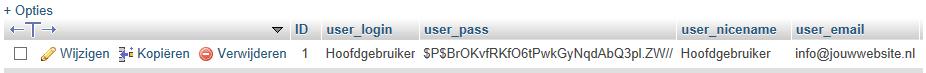 geen toegang tot Wordpress